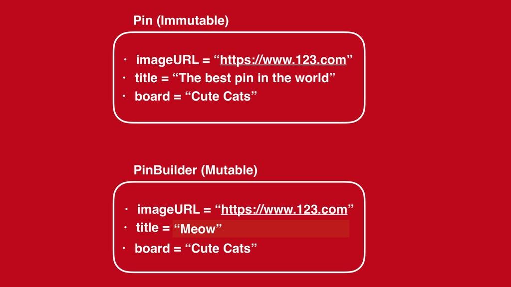 "• imageURL = ""https://www.123.com"" Pin (Immutab..."