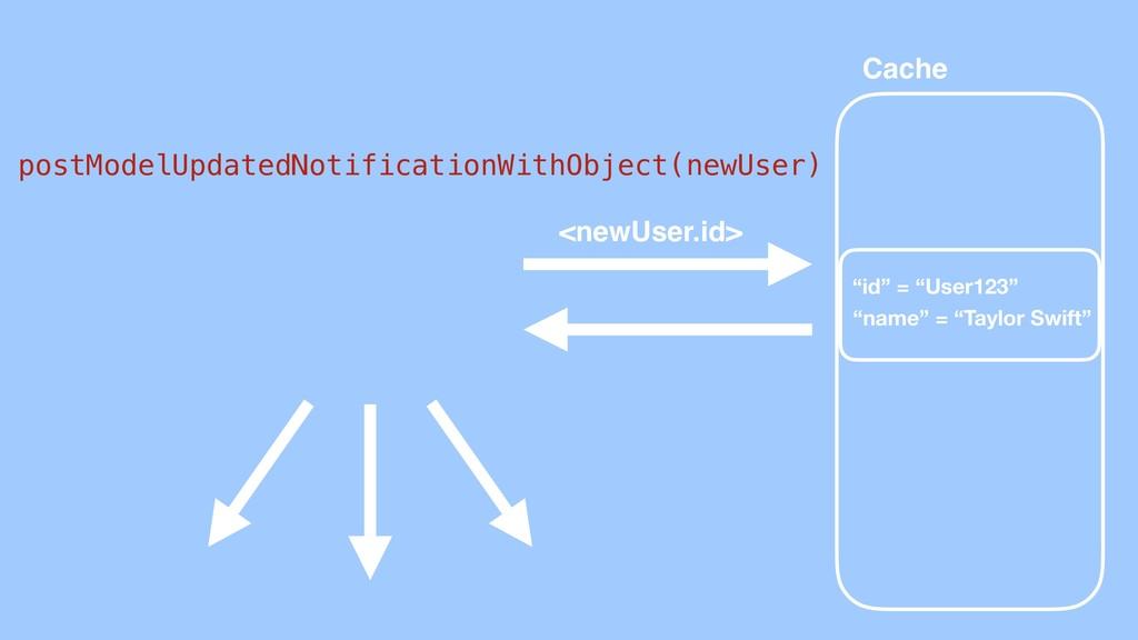 Cache postModelUpdatedNotificationWithObject(ne...