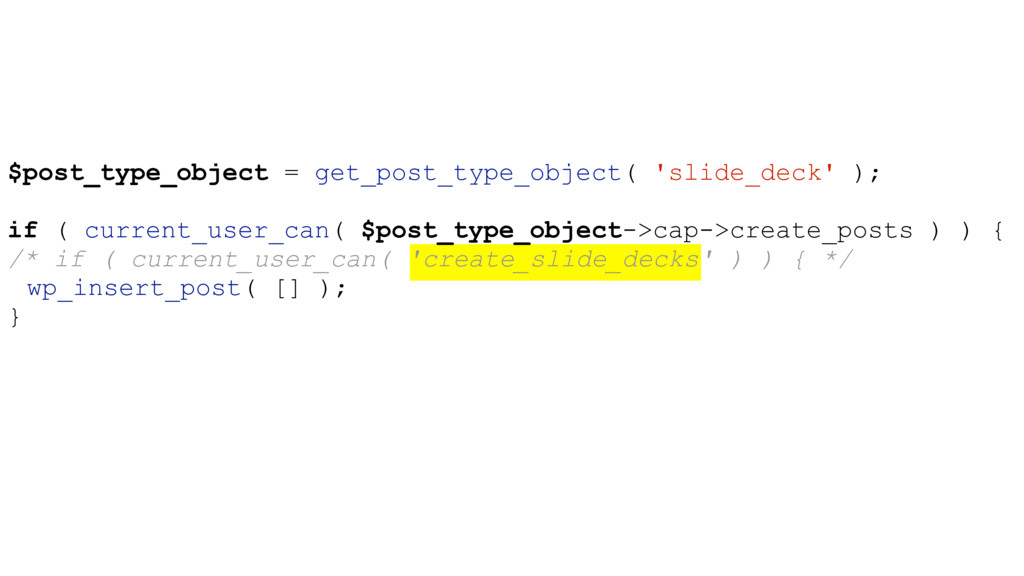 $post_type_object = get_post_type_object( 'slid...