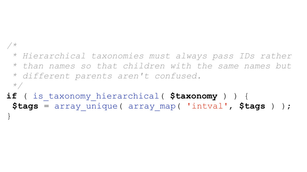 /* * Hierarchical taxonomies must always pass I...