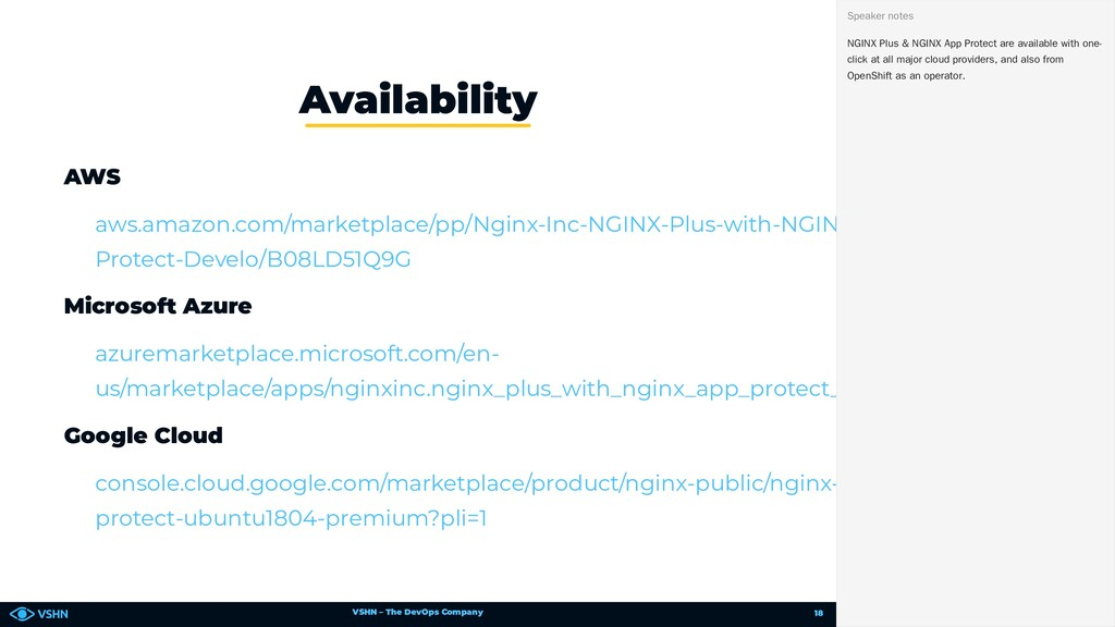 VSHN – The DevOps Company AWS Microsoft Azure G...