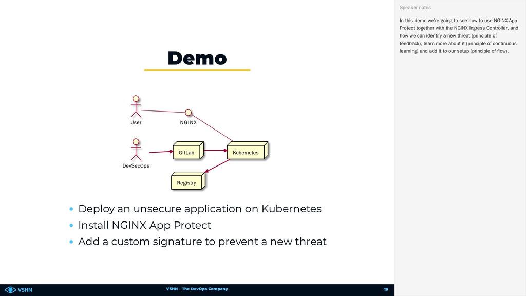 VSHN – The DevOps Company User DevSecOps NGINX ...