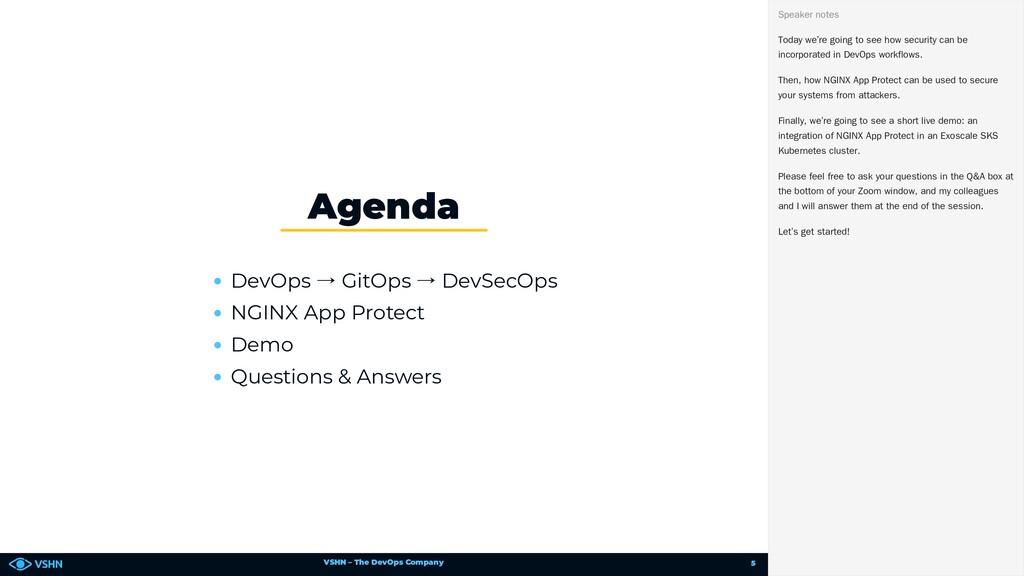 VSHN – The DevOps Company DevOps → GitOps → Dev...