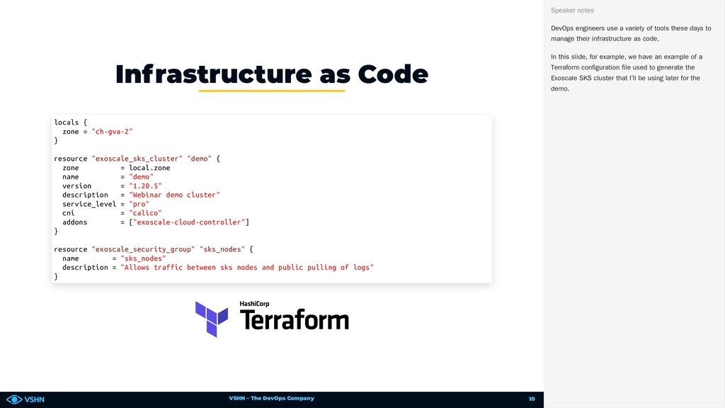 VSHN – The DevOps Company Infrastructure as Cod...