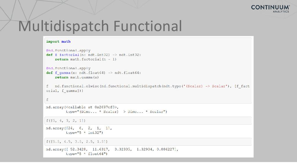 Multidispatch Functional