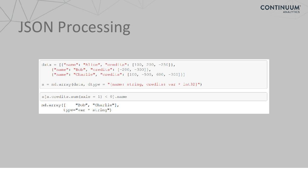 JSON Processing