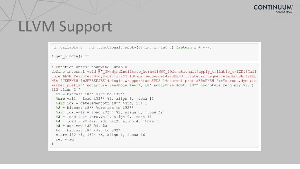 LLVM Support