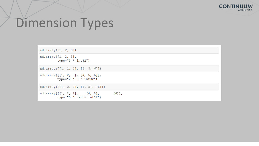 Dimension Types