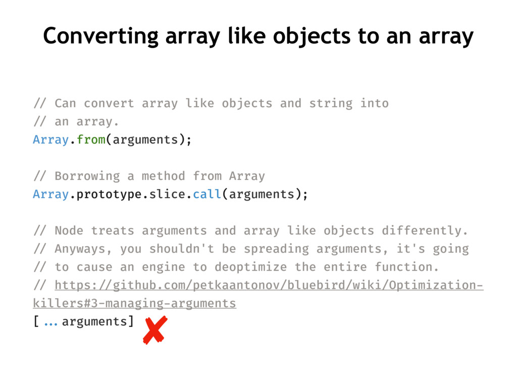 Converting array like objects to an array !// C...