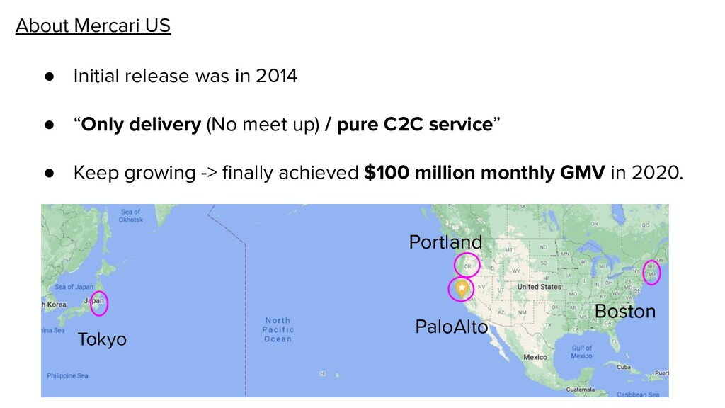 About Mercari US ● Initial release was in 2014 ...