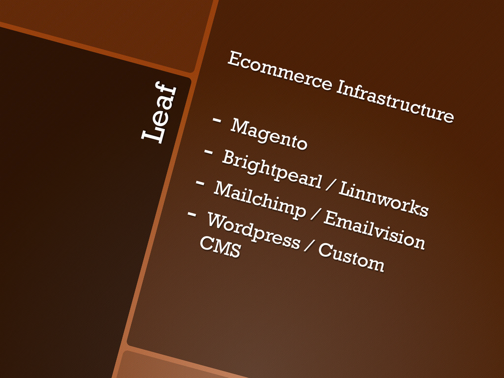 Leaf Ecommerce Infrastructure - Magento - Bri...