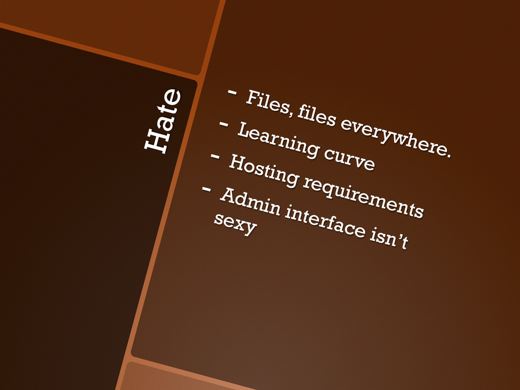 Hate -  Files, files everywhere. -  Learning cu...