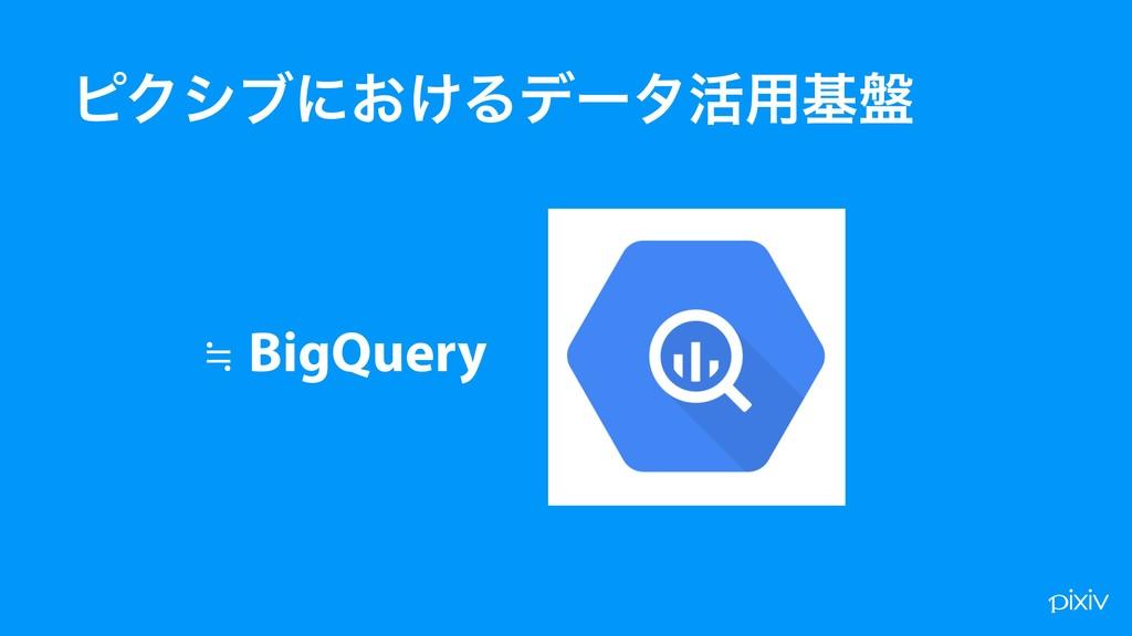 ϐΫγϒʹ͓͚Δσʔλ׆༻ج൫ ≒ BigQuery