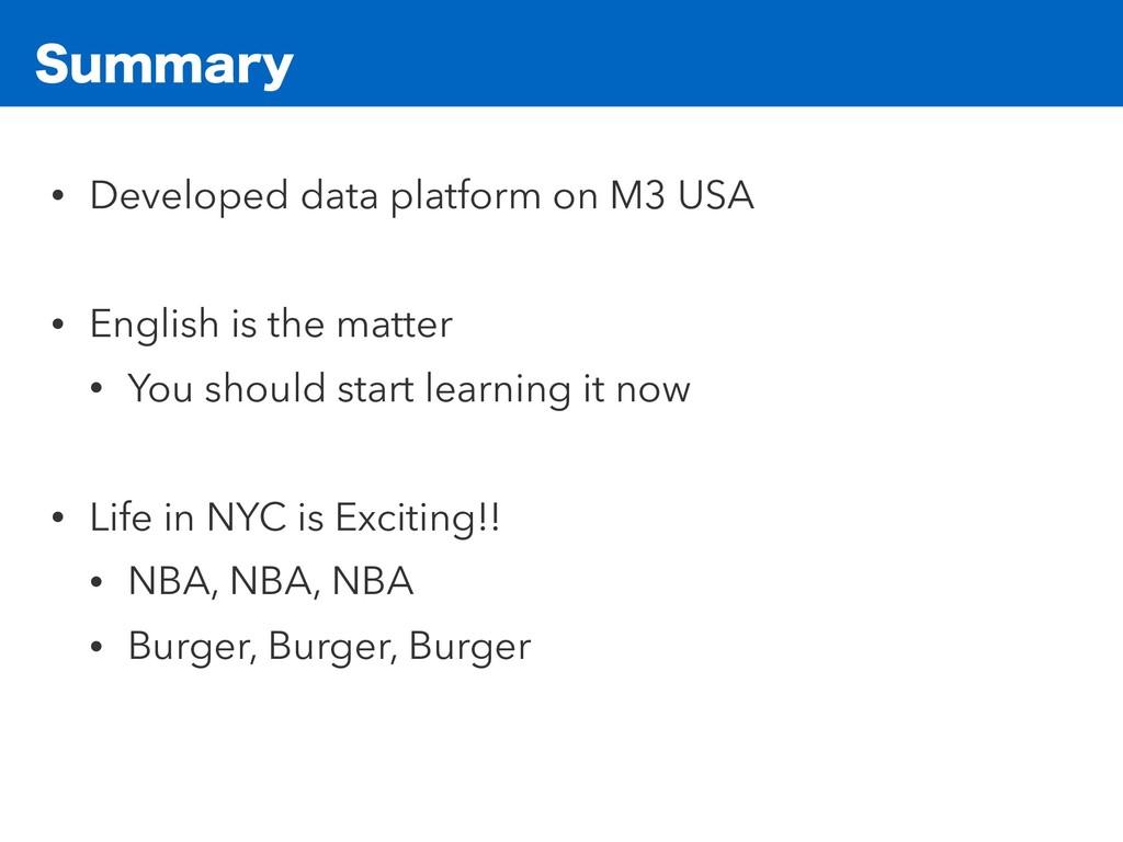 4VNNBSZ • Developed data platform on M3 USA • E...
