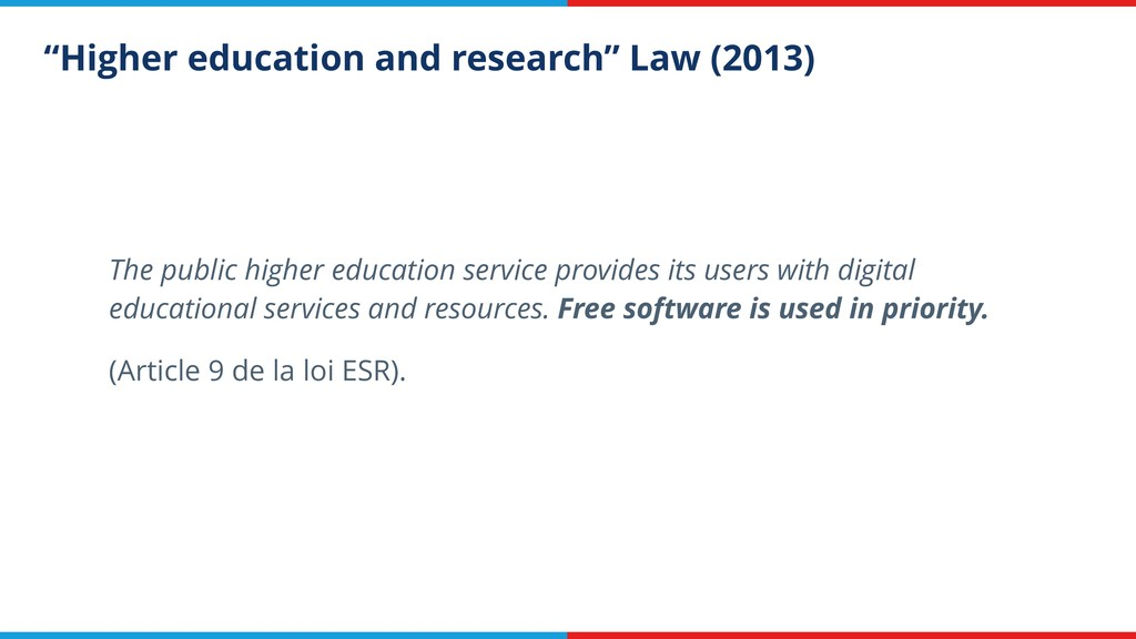 """Higher education and research"" Law (2013) The ..."
