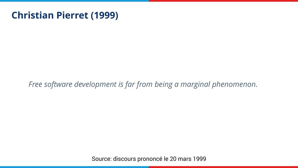 Christian Pierret (1999) Free software developm...