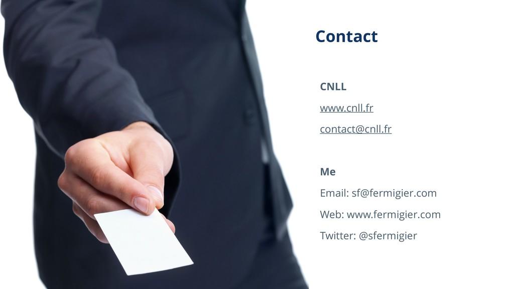 Contact CNLL www.cnll.fr contact@cnll.fr Me Ema...