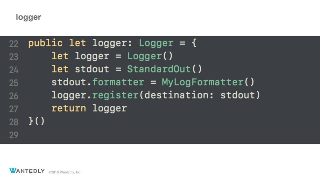 ©2018 Wantedly, Inc. logger