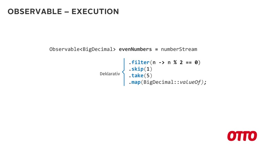 OBSERVABLE – EXECUTION