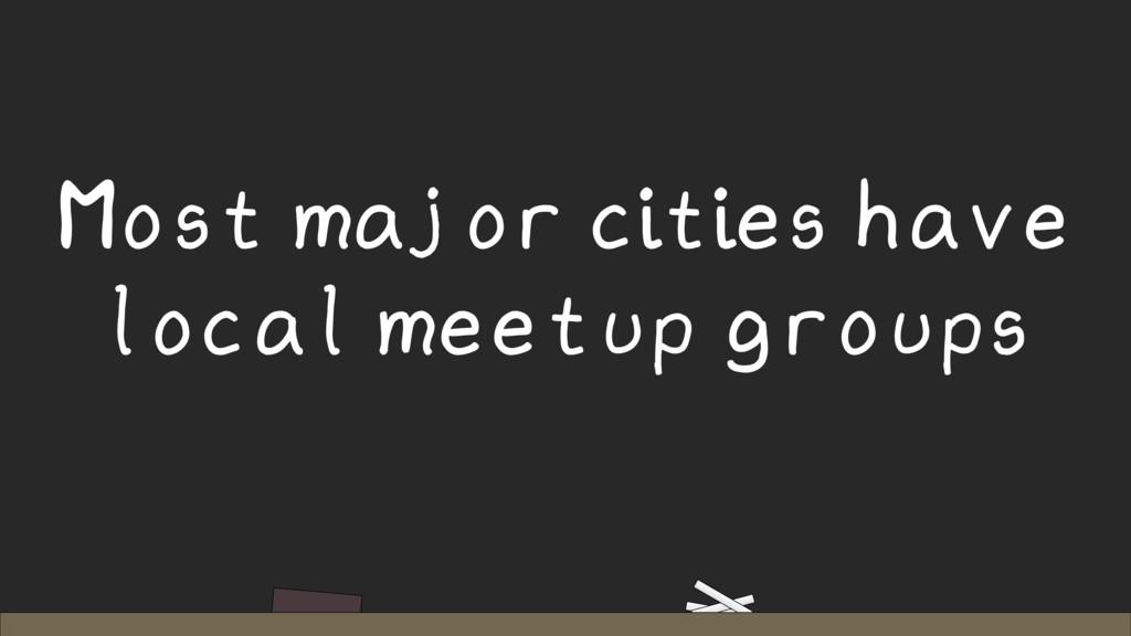 Most major cities have local meetup groups