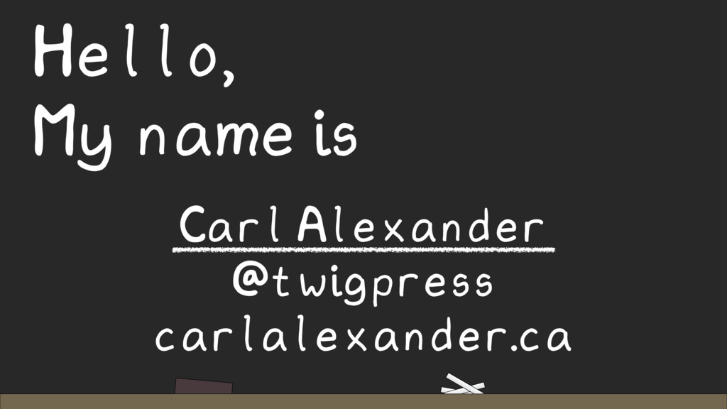 Hello, My name is Carl Alexander @twigpress car...