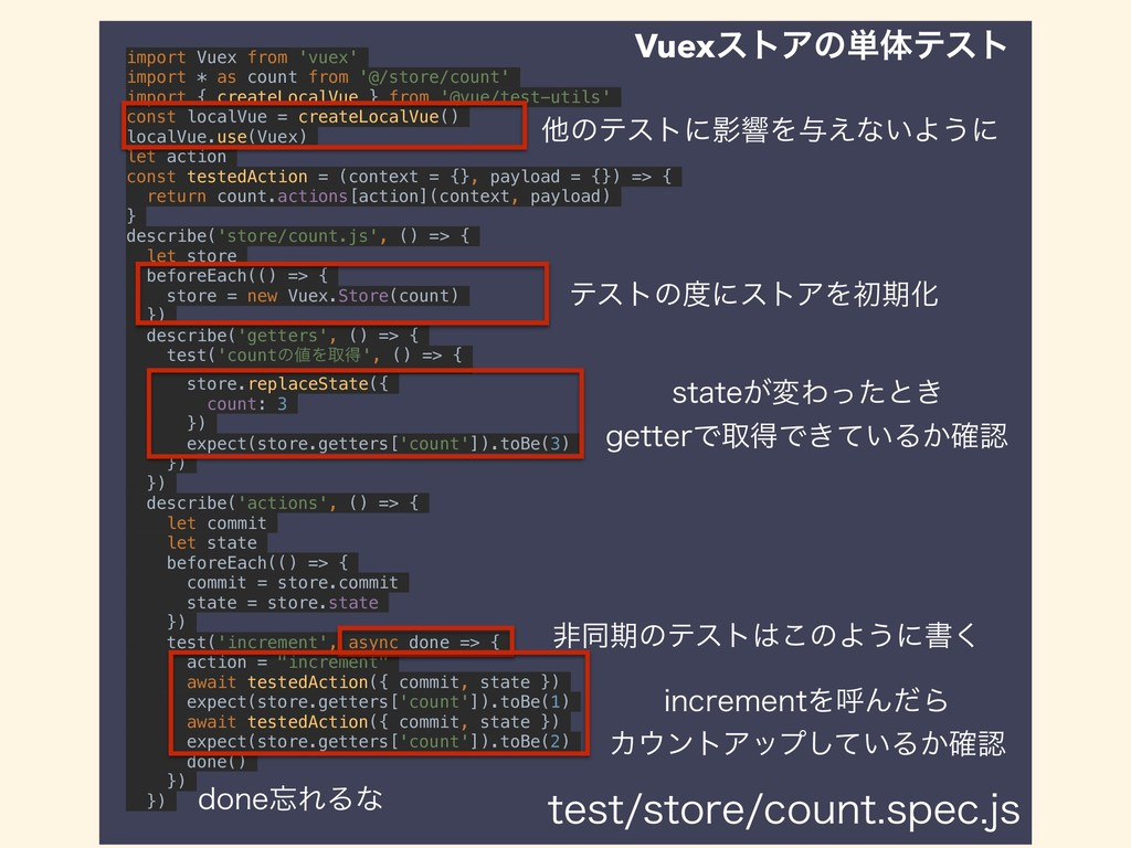 import Vuex from 'vuex' import * as count from ...