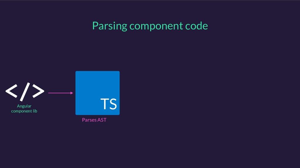 TS Parsing component code Angular component lib...