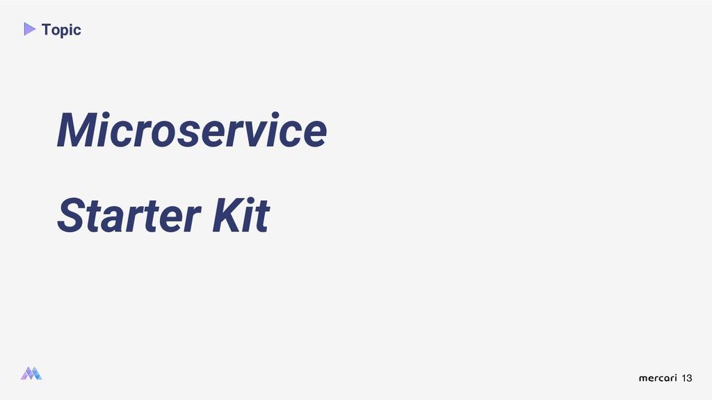 13 Topic Microservice Starter Kit