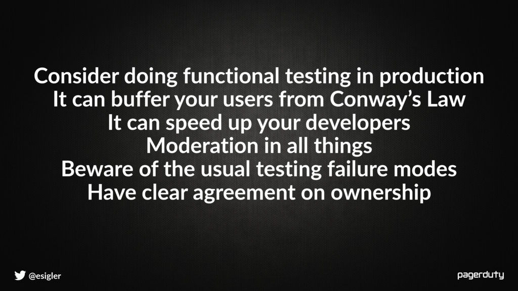 @esigler Consider doing functional testing in p...