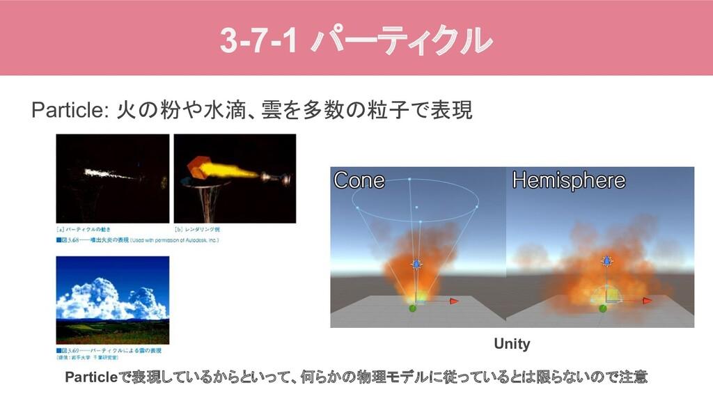 3-7-1 パーティクル Particle: 火の粉や水滴、雲を多数の粒子で表現 Partic...