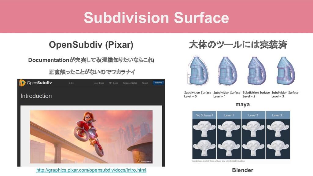 Subdivision Surface http://graphics.pixar.com/o...