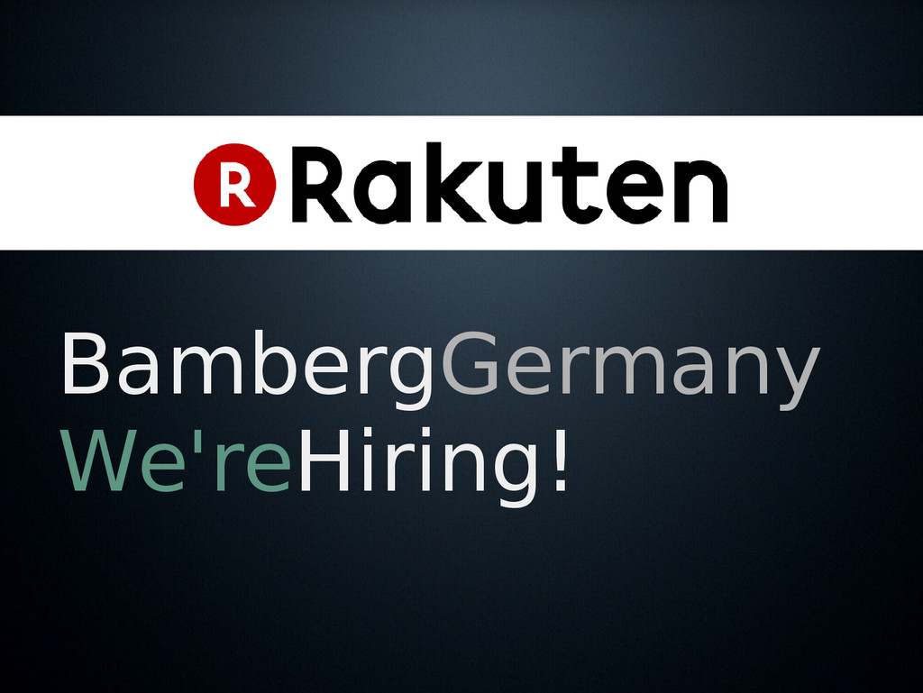 BambergGermany We'reHiring!