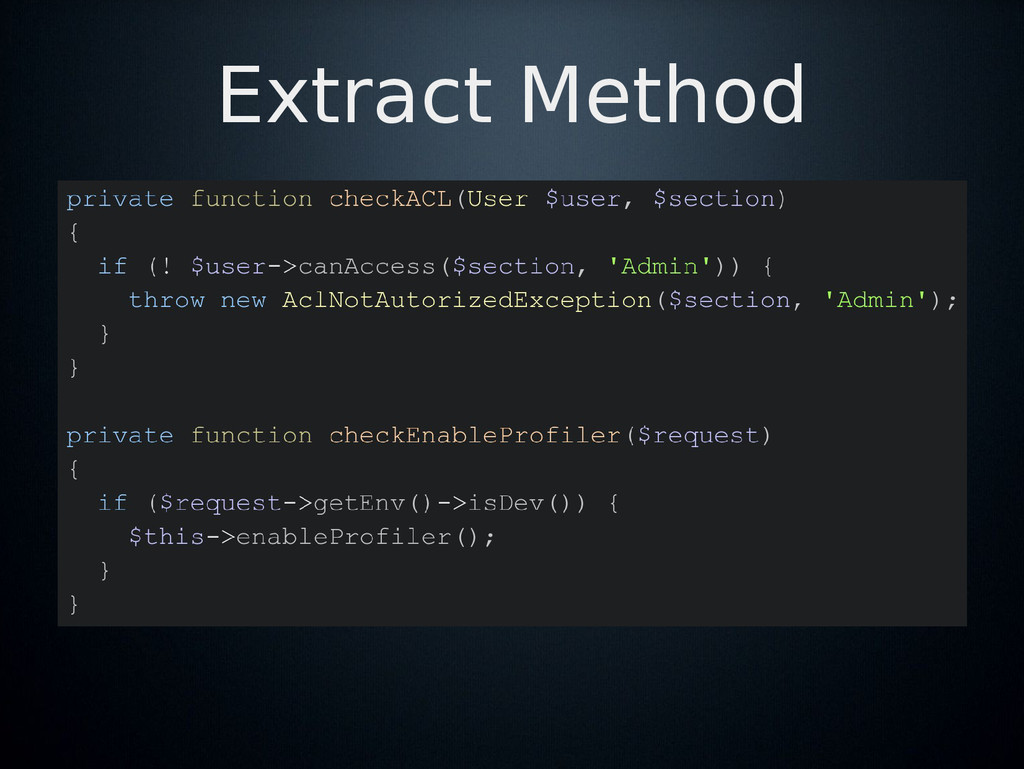 Extract Method