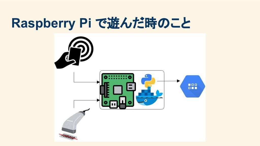 Raspberry Pi で遊んだ時のこと