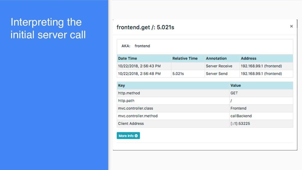 Interpreting the initial server call