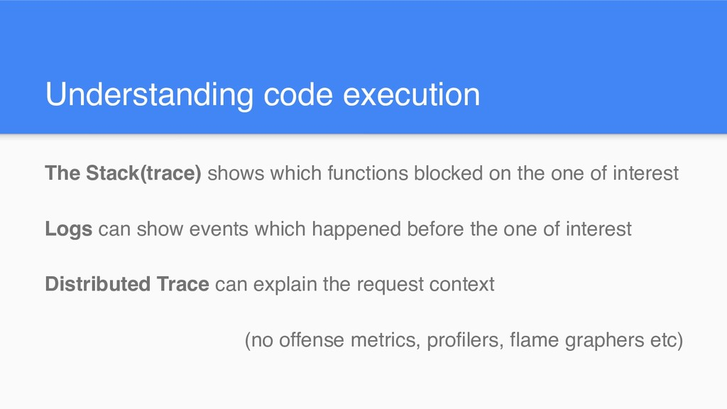 Understanding code execution The Stack(trace) s...