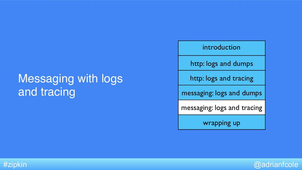 Messaging with logs and tracing @adrianfcole #z...