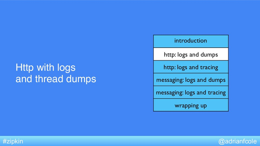 Http with logs and thread dumps @adrianfcole #z...