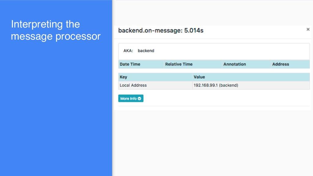 Interpreting the message processor