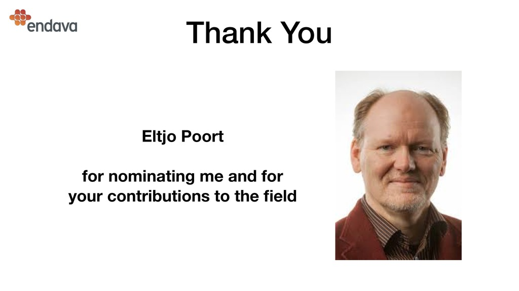 Thank You Eltjo Poort for nominating me and for...