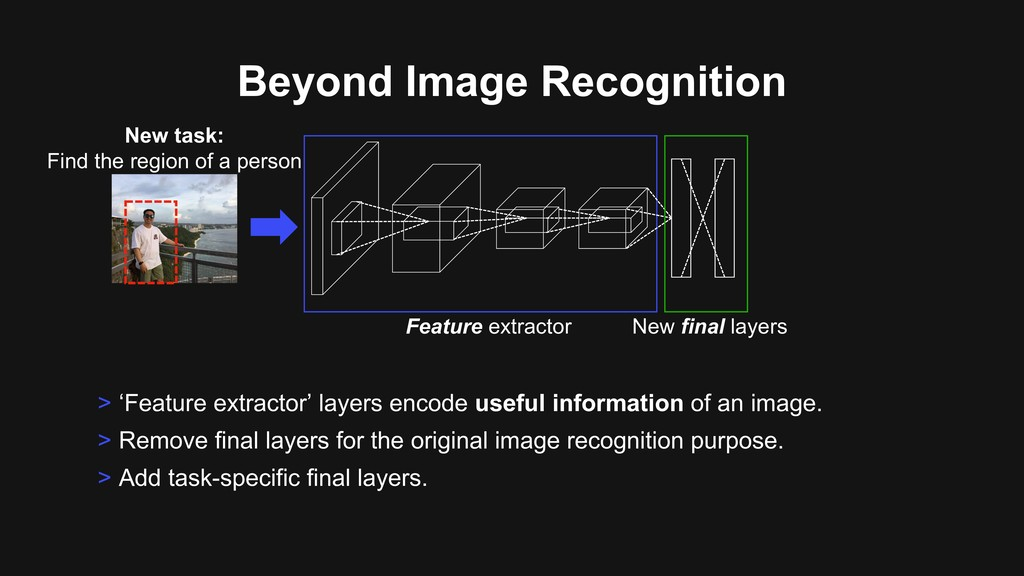 Beyond Image Recognition > 'Feature extractor' ...