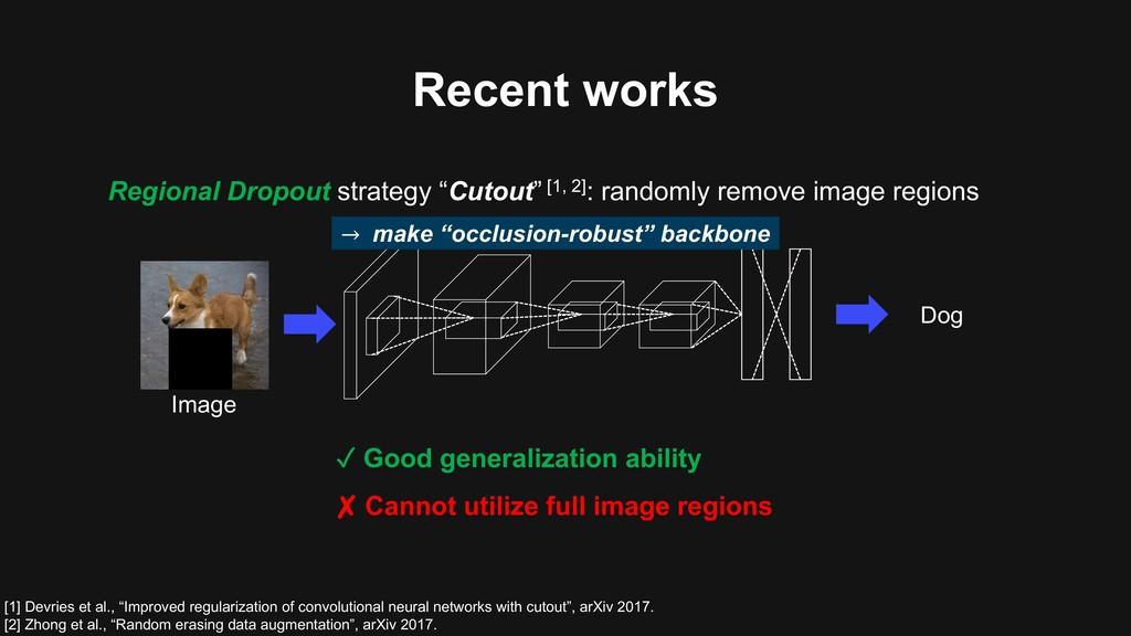 "Image Regional Dropout strategy ""Cutout"" [1, 2]..."