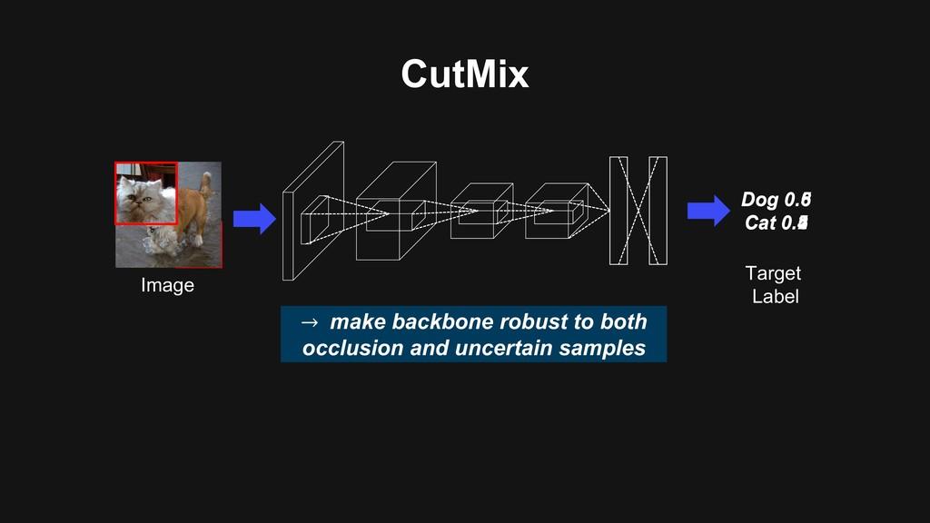 CutMix Image Dog 0.6 Cat 0.4 → make backbone ro...