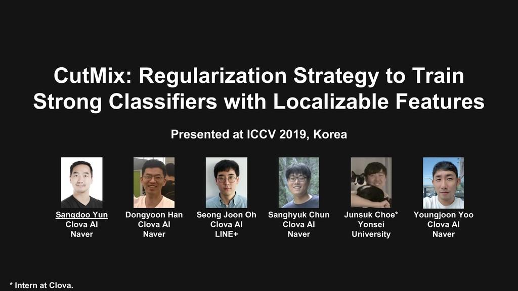 CutMix: Regularization Strategy to Train Strong...