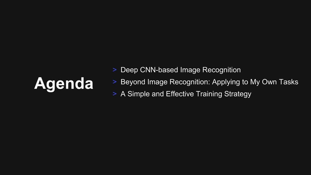 Agenda > Deep CNN-based Image Recognition > Bey...