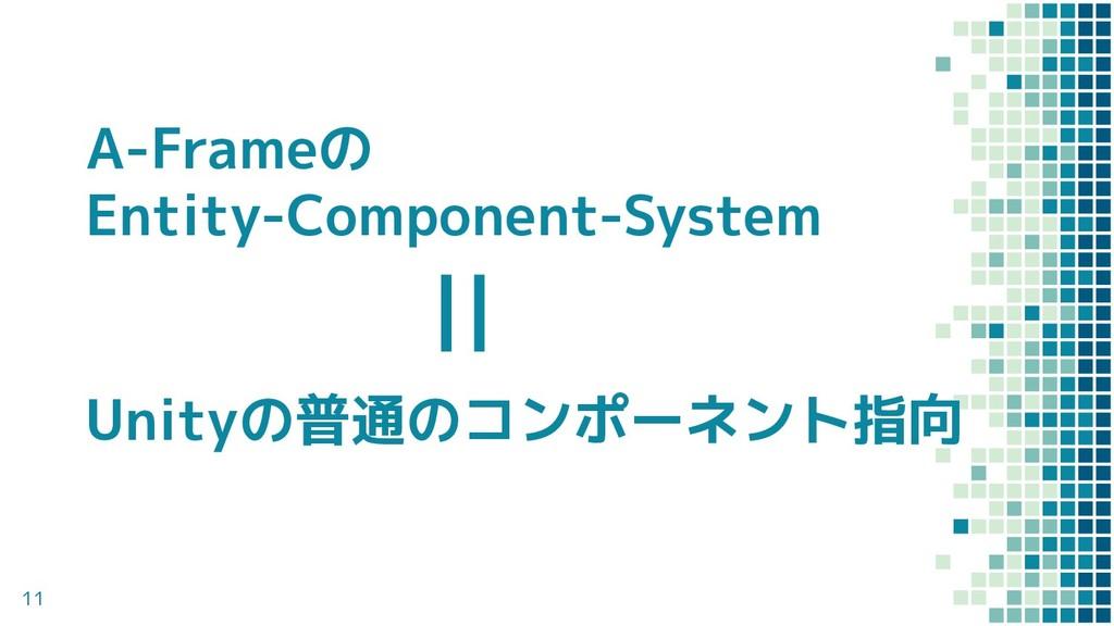 11 Unityの普通のコンポーネント指向 A-Frameの Entity-Component...
