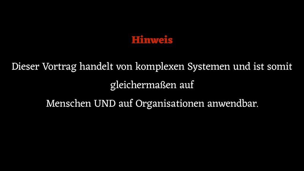 Dieser Vortrag handelt von komplexen Systemen u...