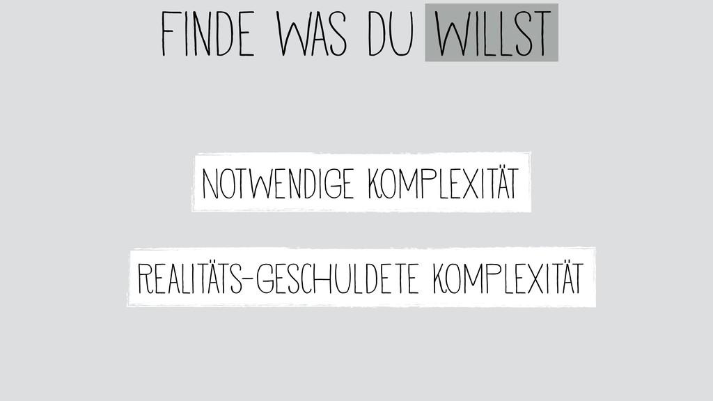 Notwendige Komplexität Finde was du willst Real...