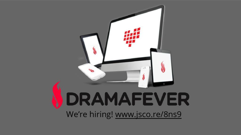 We're hiring! www.jsco.re/8ns9