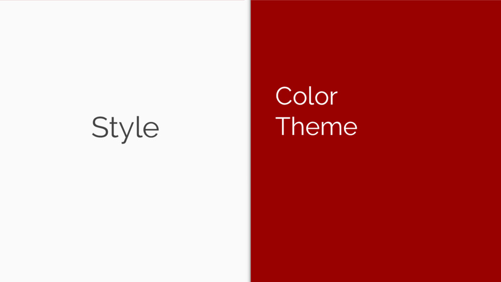 Style Color Theme